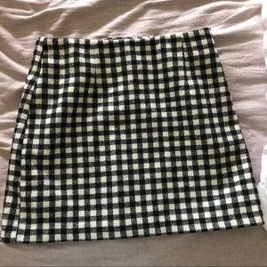 NWOT F21 Gingham Mini Skirt